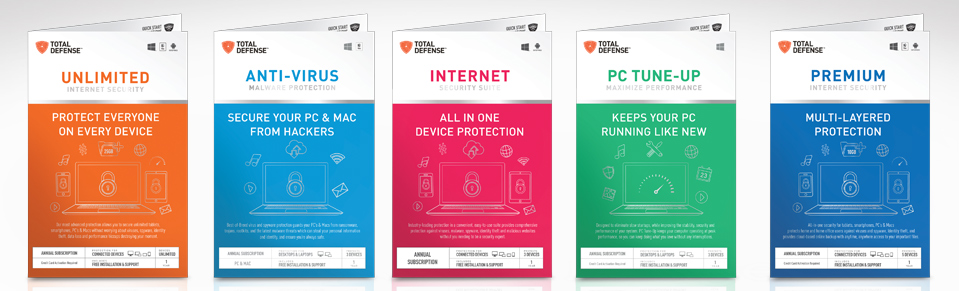 Total Defense Products - Total Defense Internet Security Suite Plus 2010, Total Defense Anti-Virus Plus Anti-Spyware 2010, Total Defense PC Tune-Up 2.0, Total Defense PC Tune-Up Plus 2.0